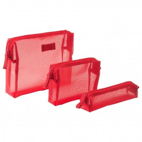 کیف آرایشی ایکیا سه تایی رنگ قرمز FORFINA