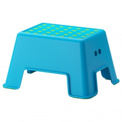 چهارپایه کودک ایکیا رنگ آبی BOLMEN