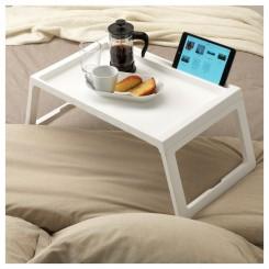 میز صبحانه ایکیا رنگ سفید KLIPSK