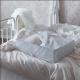 باکس لباس سفید و خاکستری ایکیا STUK