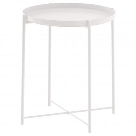 میز عسلی و سینی ایکیا رنگ سفید GLADOM
