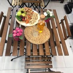 میز و صندلی ۴ نفره تاشو طرح ایکیا TARNO