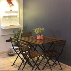میز و صندلی 4 نفره تاشو طرح ایکیا تارنو TARNO