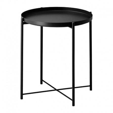 میز سینی دار طرح ایکیا رنگ مشکی GLADOM