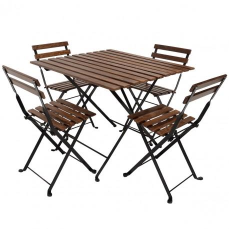 میز و صندلی ایکیا مدل تارنو 4 نفره TARNO